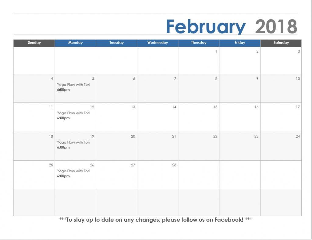 February calendar Concordia